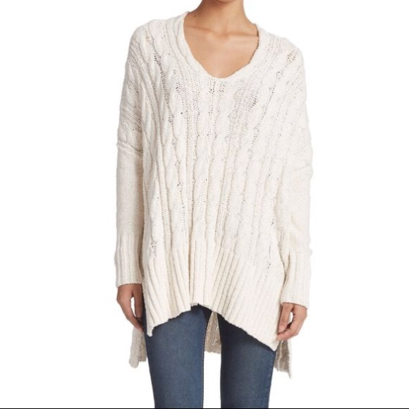 Free People Sweaters - Free people oversized cable knit sweater 8c465f378